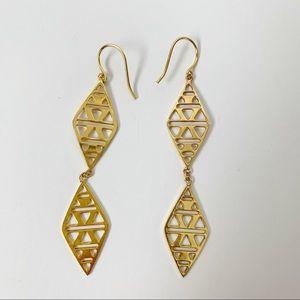 Gorjana Kaia Drop Geometric Long Earrings Gold